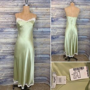 Vera Wang Green Slip Dress Size Small